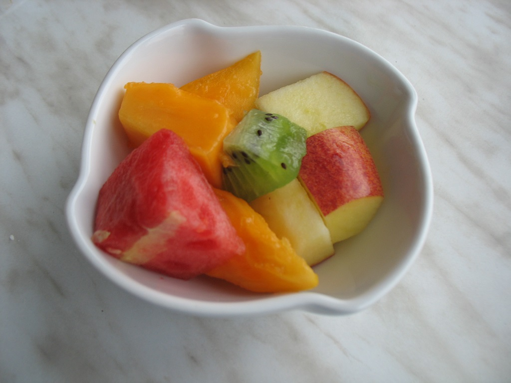 Fruits - Watermelon, apple, papaya and kiwi!