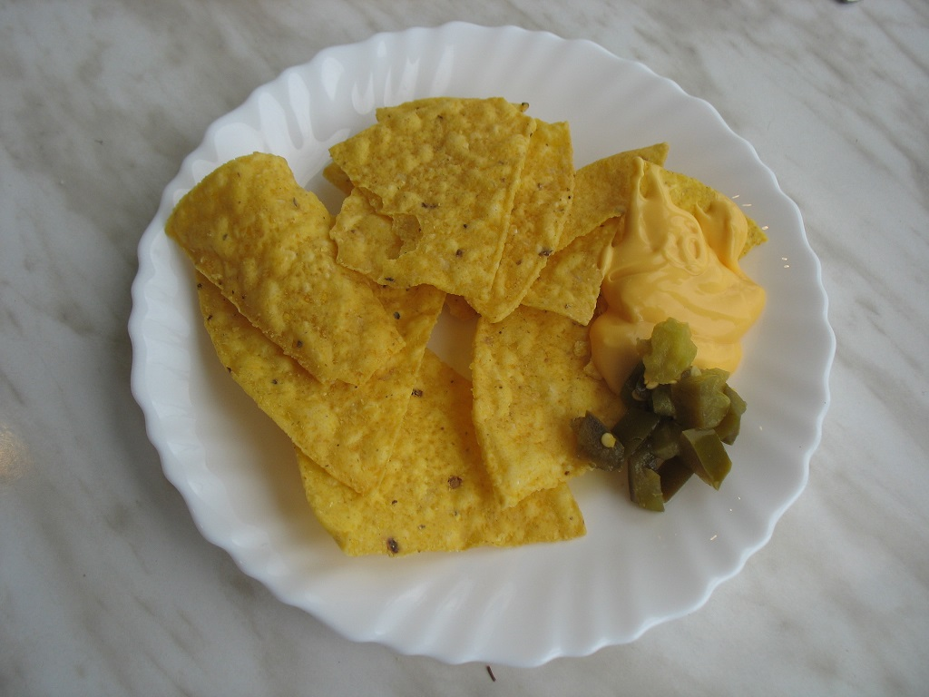 Nachos with cheese and Jalapeno